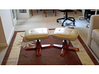 """PAIR OF """"STRESSLESS TYPE"""" FOOT STOOLS. (PRICE REDUCED)"""
