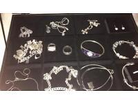 925 silver items, including Pandora, Hot Diamonds and Tiffany