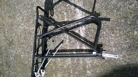 Black lightweight pannier rack