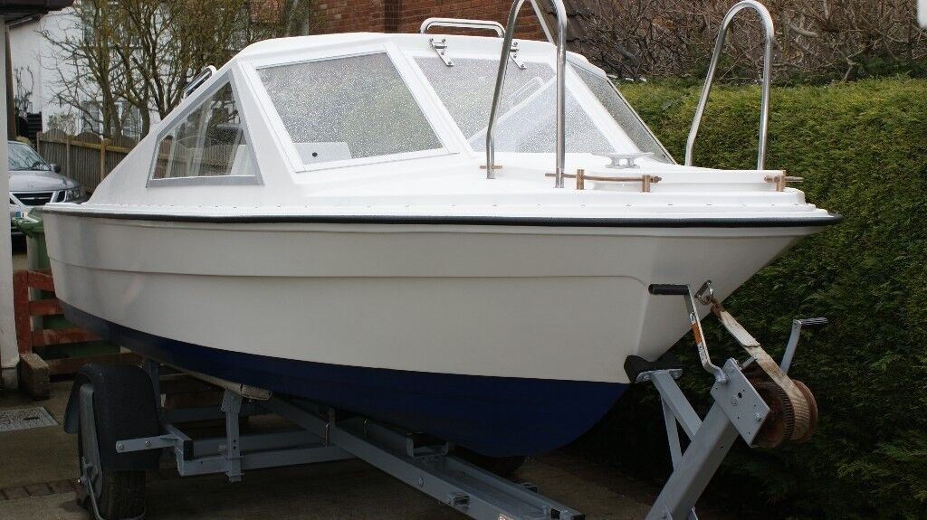 Morebas 17ft Fishing Boat Cruiser + Trailer + Outboard Engine