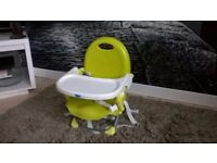 LOVELY CLEAN CHICCO PORTABLE TRAVEL ADJUSTABLE TABLE BOOSTER SEAT / CHAIR