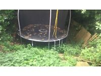 12ft sports trampoline, over £300 when new.