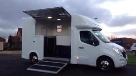 VAUXHALL MOVANO NEW BUILD HORSE BOX 3.5ton 2stalls DAY LIVING 61PLATE NO VAT