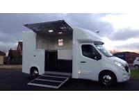 VAUXHALL MOVANO NEW BUILD HORSE BOX 3.5ton 2stalls DAY LIVING 61PLATE NO VAT