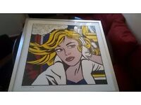 Two very large Lichtenstein framed prints in matching frames excellent central London bargain