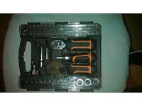 56-Piece Ratchet Screwdriver Bit and Socket Set hardly used