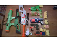 TOY PLASTIC GUNS, NERF, ARMY, LARGE BUNDLE, DART REFILS AND MORE