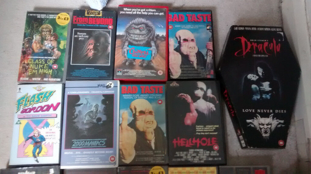 14 HoRrOr FiLmS vhs VIDEOS VINTAGE COLLECTABLE GREAT COLLECTION | in ...