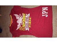 Superdry T Shirt RED UK Size Xsmall suit size 4-6