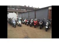 Honda Yamaha Piaggio Gilera Vespa SYM scooters 125cc 50cc 125 cc 50 cc learner legal with MOT
