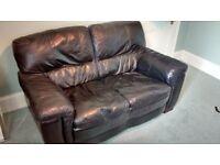 SOFA. Black Leather. High Quality virtually unused.