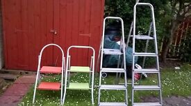 STEPLADDERS/HOMEBASE ALUMINIUM/MEDIUM THREESTEP/TWO TWOSTEP LADDERS.