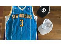 NBA vest and 2 caps