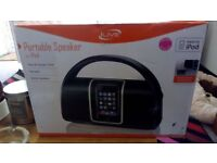 Portable Stereo Speaker for iPod & other audio devices. (Manufactured by *Live*