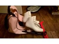 Girls White Figure Skates