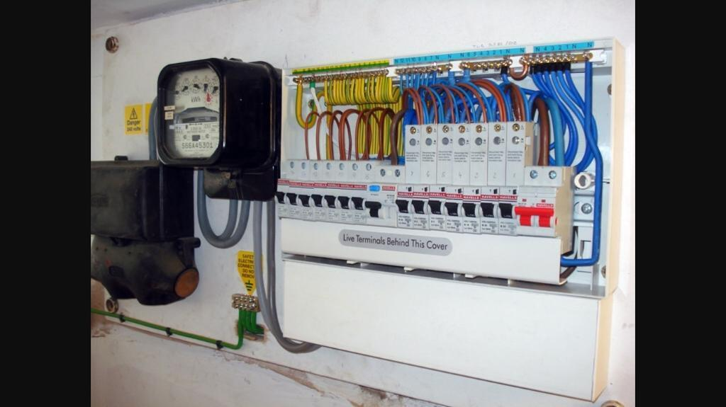 Consumer unit fuse box supplied and fitted in east