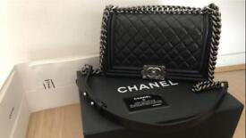 Chanel Boy Bag Medium Black Lambskin