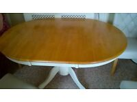 LOVELY SOLID WOOD TABLE & CHAIRS