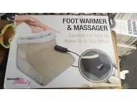 BLACK ELECTRIC HEATED COMFORT FLEECE COMFY FOOT WARMER