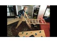 Mini pikler climbing frame