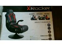 X-Rocker Rally Pedestal Gaming Chair