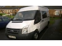 FORD TRANSIT T280M FWD 110BHP 2009 58 REG MOTOCROSS VAN SEMI HIGH TOP SIDE WINDOW CARPETED SWAP P/EX