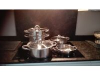 Jean Patrique stainless steel stockpots and steamer