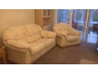 2 x 2 seater sofa's and 1 armchair. Good condition with 1988 fire safety labels