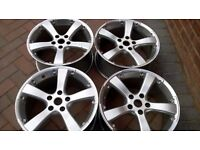 Millie Migilia alloy wheels 17 inch 5 spoke v.w audi merc