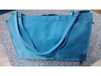 Turquoise XYZ tote bag
