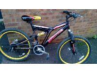 "sabre bike 24"" wheels full disc brakes"