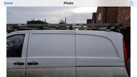 Vito 109 roof rack and bars