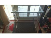 Glass computer table for sale