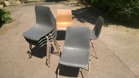Stacking Chairs x 7 (sold separately or as a lot)