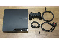 PS3 (Sony PlayStation 3) Slim 120gb Black Console Bundle