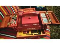 Vintage Singer Sewing Box
