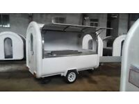 Mobile Catering Trailer Burger Van Hot Dog Food Cart Ready To Work