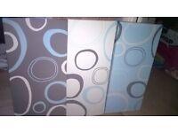 Blue, White , Grey Canvas