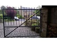 Pair of galvanised steel driveway/ car port gates