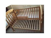 Baby cot with a mattress from john lewis 120x60 cm