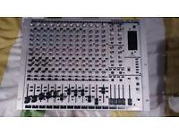 Behringer Eurorack MX 2642A 16 input mixer & PSU & MANUAL EXCELLENT CONDITION