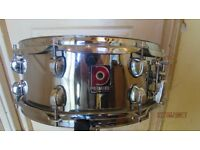 Limited edition Premier Artist Chrome Snare Drum ( made in England )