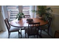 G plan Fresco design dining table with chairs