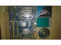 Asrock 4CoreDual-SATA2 motherboard, Intel Core2 Quad Q6600 CPU, 2GB Ram Kingston kvr667d2n5/2g
