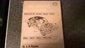 haynes owners workshop manual ford consul and granada 1972 to 1974