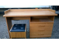 Desk with matching stool