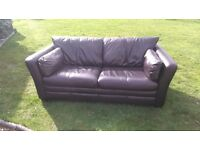 Superb John Lewis soft leather sofa, couch