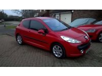 Peugeot 207 Sport 1.6 HDI Bright Red £30 Road Tax with 11mth MOT