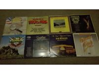 8 Vinyls, country songs, Beatles, The Sound of Music, Fiddler on the Roof etc.