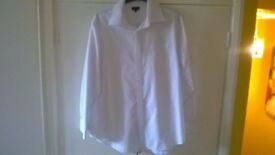 Men's Casual White Shirt By F&F 17 collar